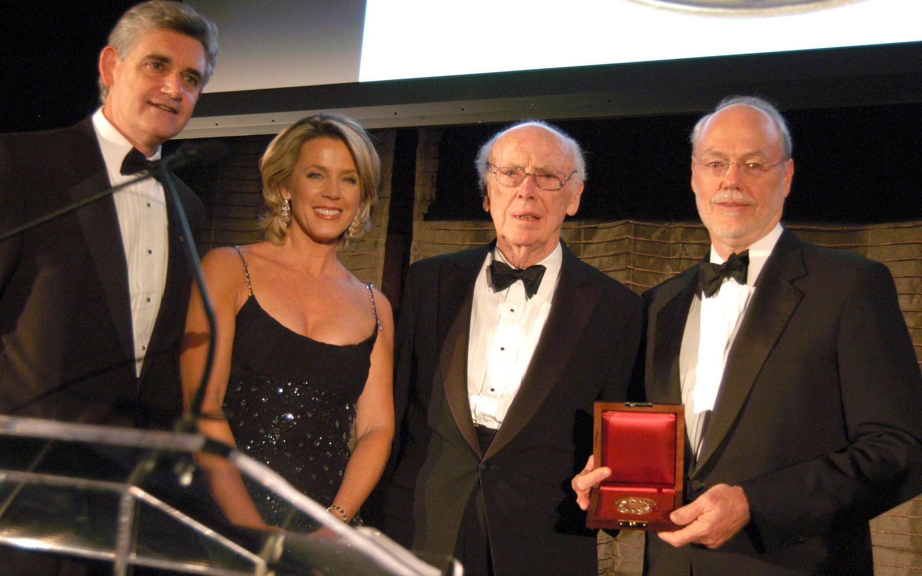 Bruce Stillman, Evening Presenter Inside Edition's Deborah Norville, Jim Watson, Honoree Dr. Phillip A. Sharp