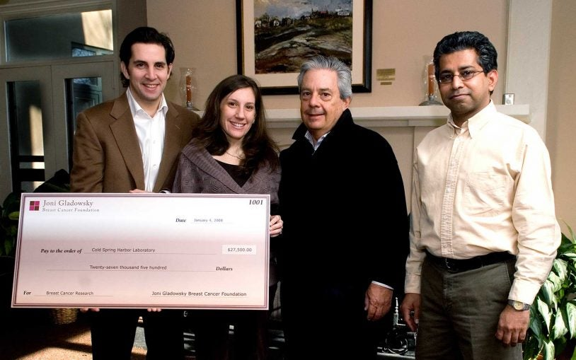 Joni Gladowsky Breast Cancer Foundation funds innovative breast cancer research at Cold Spring Harbor Laboratory