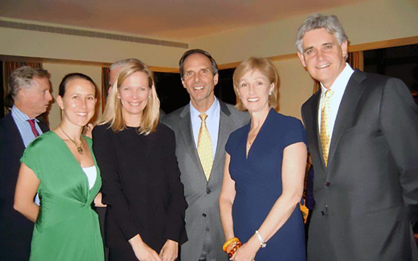 Anne Wojcicki, Linda Avey, CSHL Board Chairman, Eduardo Mestre, CSHL President, Bruce Stillman
