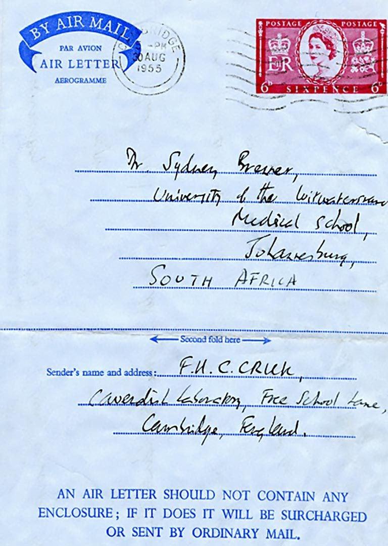 Crick letter