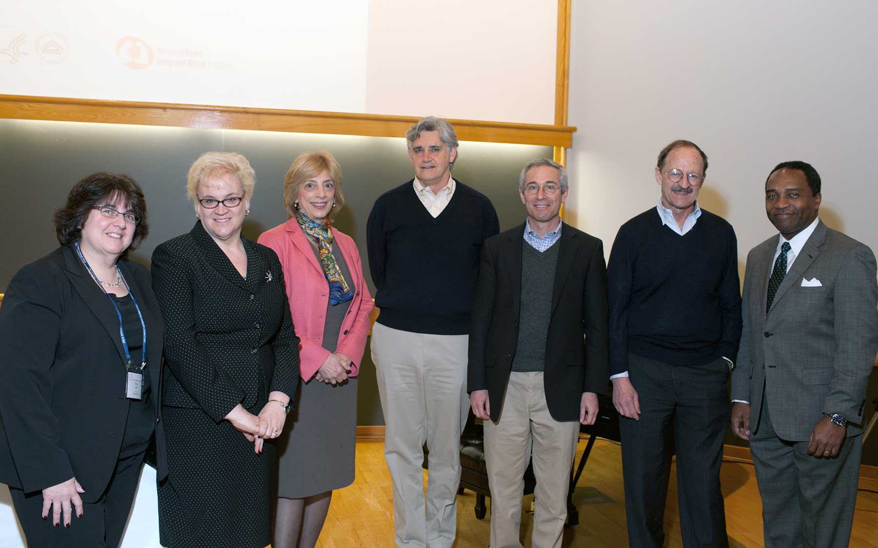 Stillman with NIH leaders