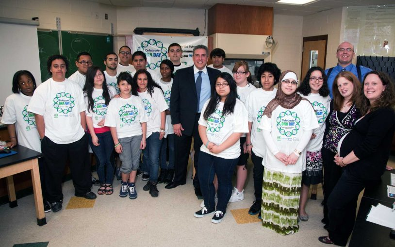 DNA Day for Brentwood students highlights National Grid Foundation support for LI programs
