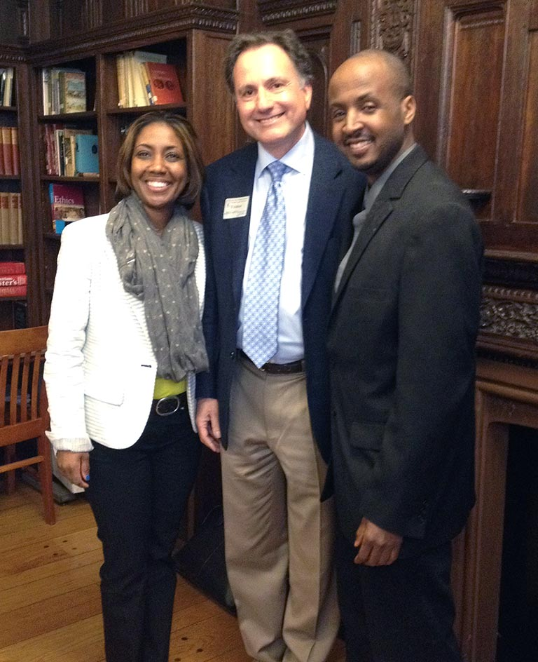 Professor David Spector with David Lacks, Jr. and Jeri Lacks Whye