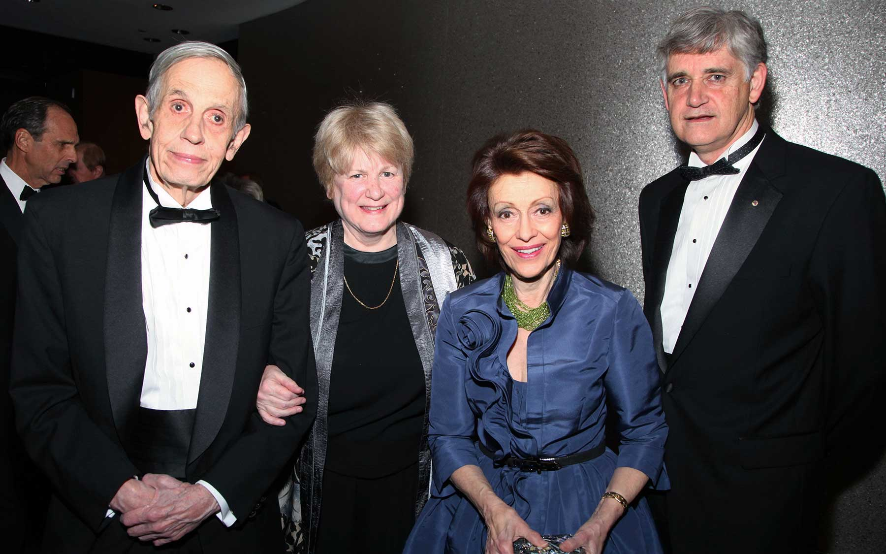 John F. Nash , Jr., Mary-Claire King, Evelyn Lauder, and Bruce Stillman