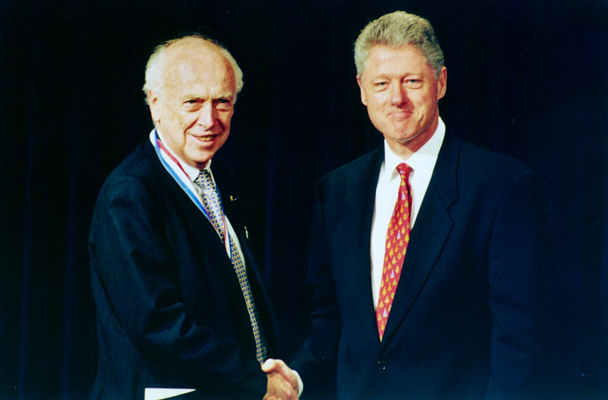 1997 Clinton awarded Watson the President's National Medal of Science