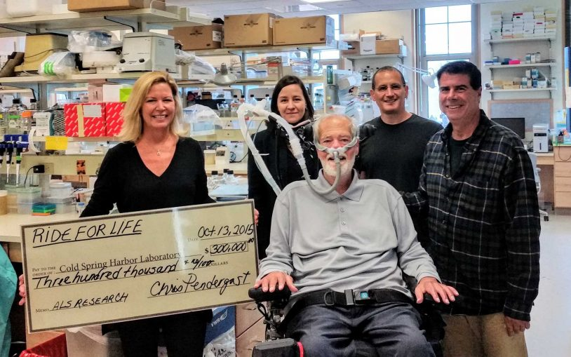 Ride For Life gives $300,000 for ALS research at Cold Spring Harbor Laboratory (CSHL)