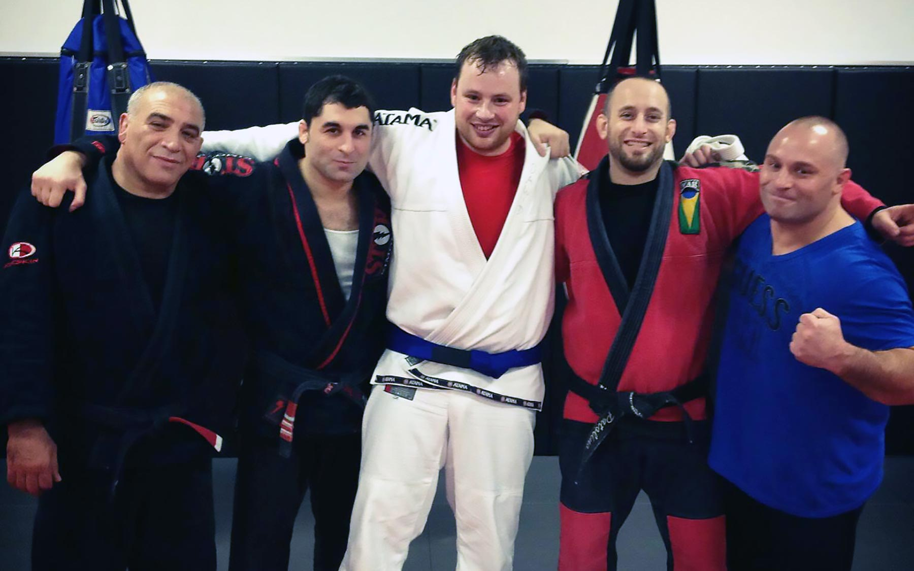Nowak at his promotion to blue belt