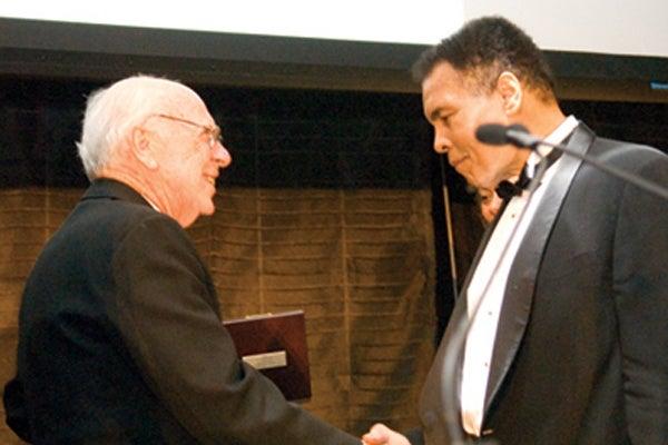 Jim Watson and Muhammad Ali