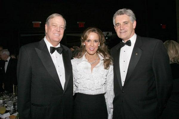 David and Julia Koch with Dr. Bruce Stillman