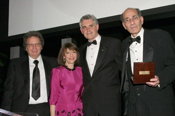 Dr. Michael Wigler, Evelyn Lauder, Dr. Bruce Stillman and Dr. Richard Axel