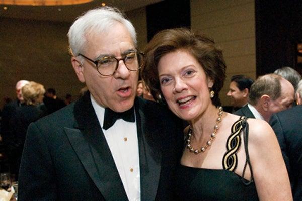 David Rubenstein and Liz Watson