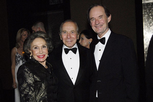 Corinne and Hank Greenberg and David Boies