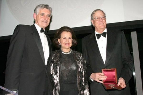 Dr. Bruce Stillman, Hillie Mahoney and David Koch