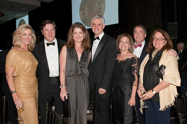 Deborah Norville, Lee and Elizabeth Ainslie, Bruce Stillman, Terry Lindsay, Bill and Susan Sheeline
