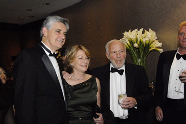 CSHL President Bruce Stillman, trustee, Marilyn Simons and Jim Simons