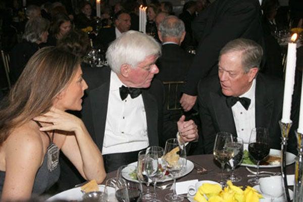 Carol McFadden, Phil Donahue and David Koch
