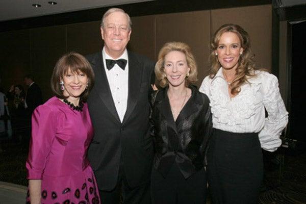 Evelyn Lauder, David Koch, Amanda Haynes-Dale and Julia Koch