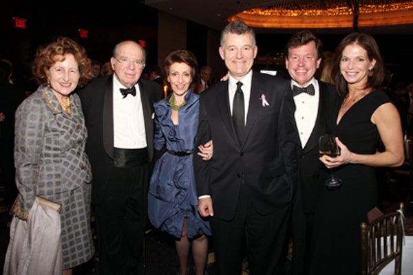 Cynthia and Leon Polsky, Evelyn Lauder, William Lauder Tom Quick, Lori Tritsch