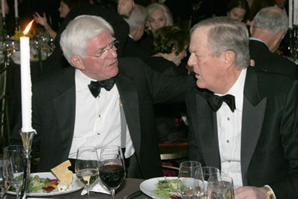 Phil Donahue and David Koch