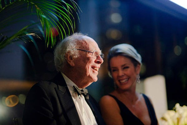 James D. Watson and Deborah Norville