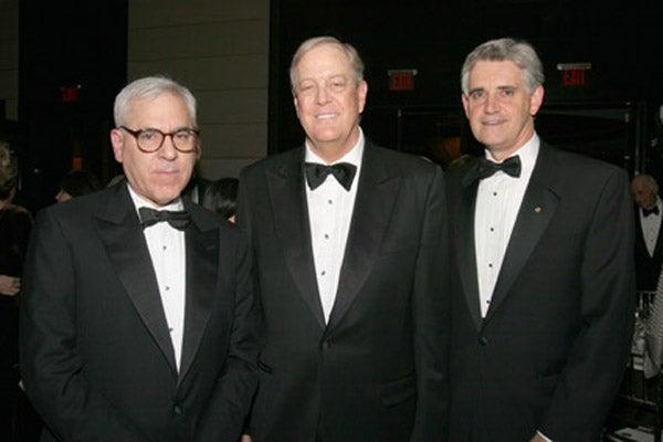 David Rubenstein, David Koch, and Dr. Bruce Stillman