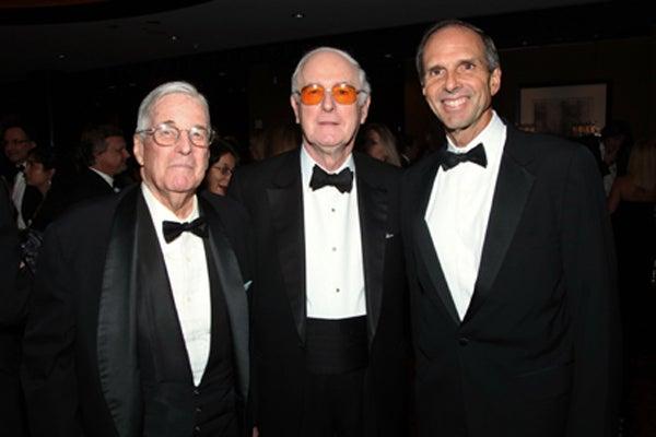 Former CSHL board chairmen, David Luke, Bill Miller, Eduardo Mestre