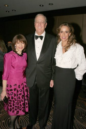 Evelyn Lauder with David and Julia Koch