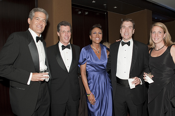 Rich Besser, Dill Ayres, Robin Roberts, Paul and Danielle Taubman