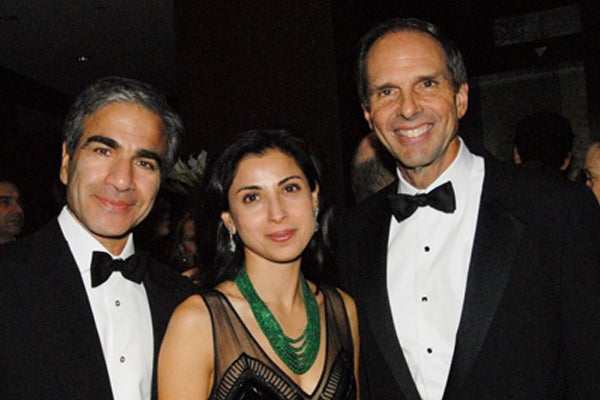 Prakash and Anjali Melwani and CSHL Chariman of the board, Eduardo Mestre