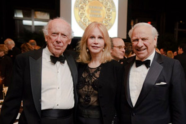 James D. Watson with Herb and Jeanne Siegel
