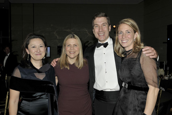 Susie Huang, Fern Hammond, Paul and Danielle Taubman