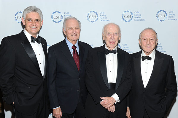Bruce Stillman, Alan Alda, Jim Watson, Matthew Meselson
