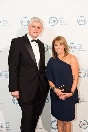 Bruce Stillman and Katie Couric