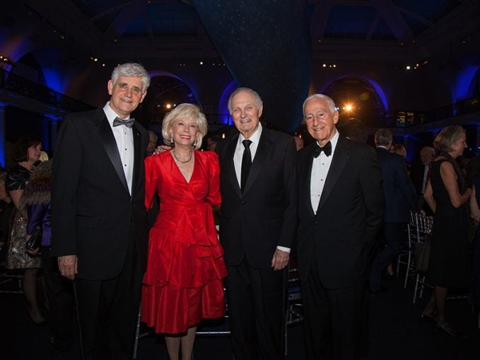 Bruce Stillman Lesley Stahl with Honorees Alan Alda and Roy Vagelos