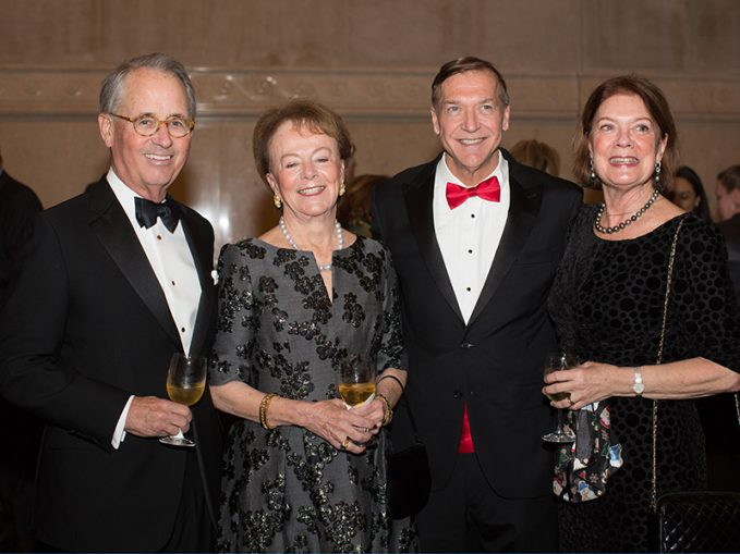 Paul and Robin Vermylen, Stony Brook President Sam Stanley, Liz Watson