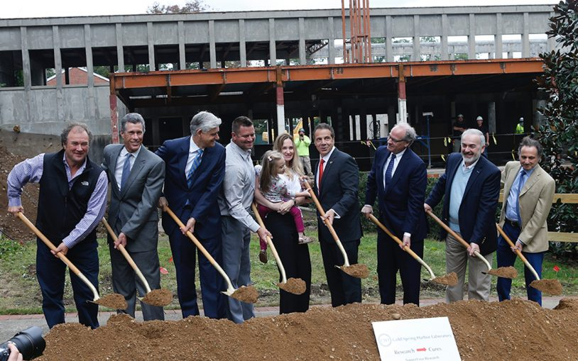 Governor Cuomo breaks ground on $75 million Cold Spring Harbor Laboratory Center for Therapeutics Research