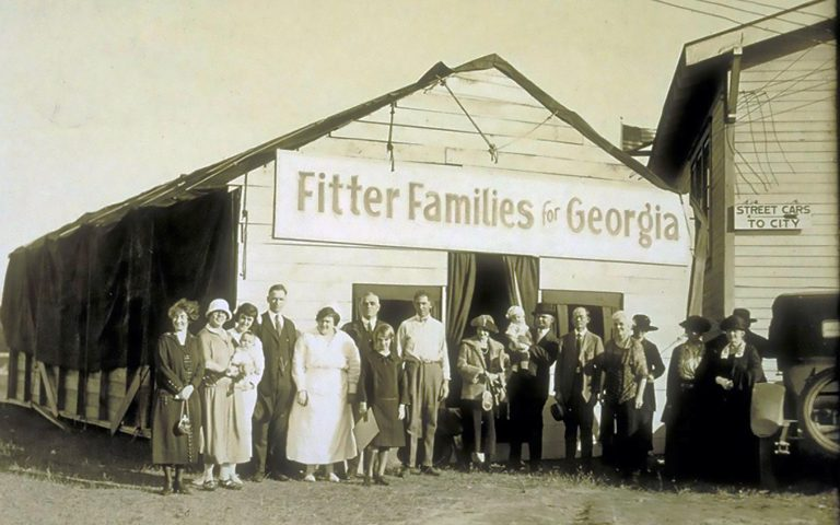 fitter families contestants at Georgia State Fair 1924