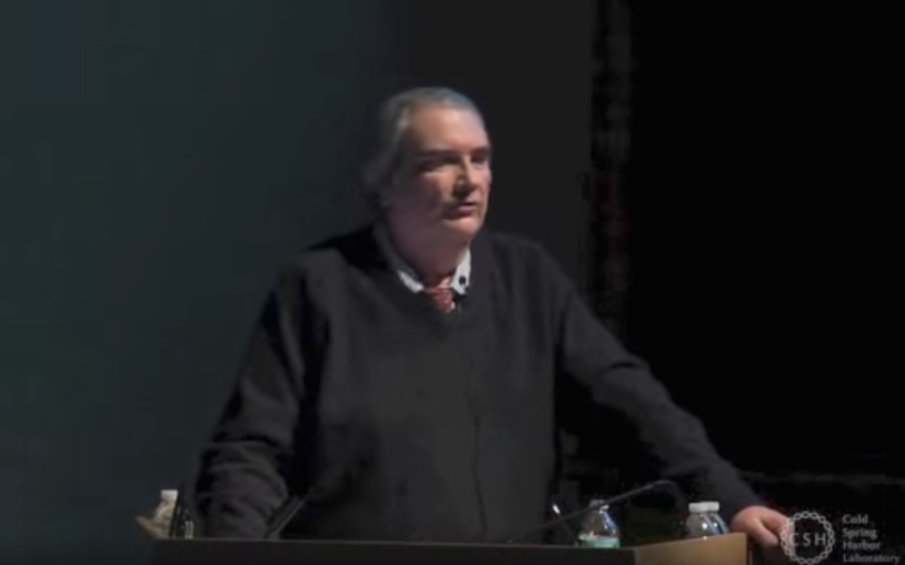 CSHL Professor W. Richard McCombie speaks at the CSHLA Genome Education Presentation