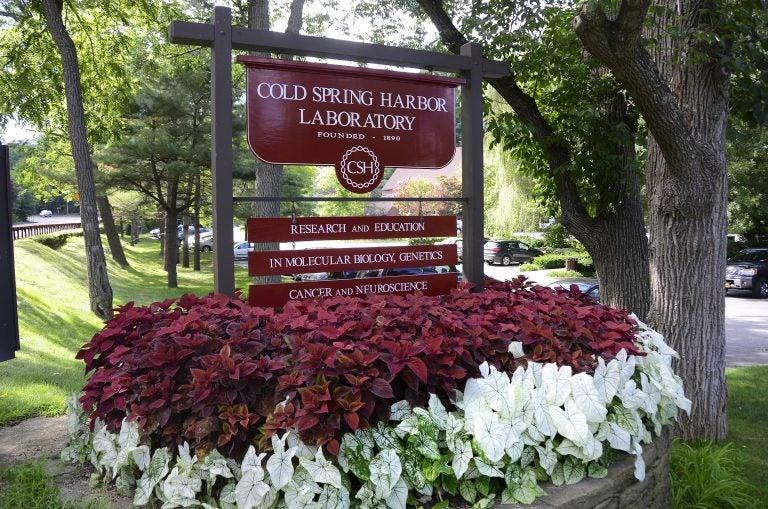 CSHL entrance sign