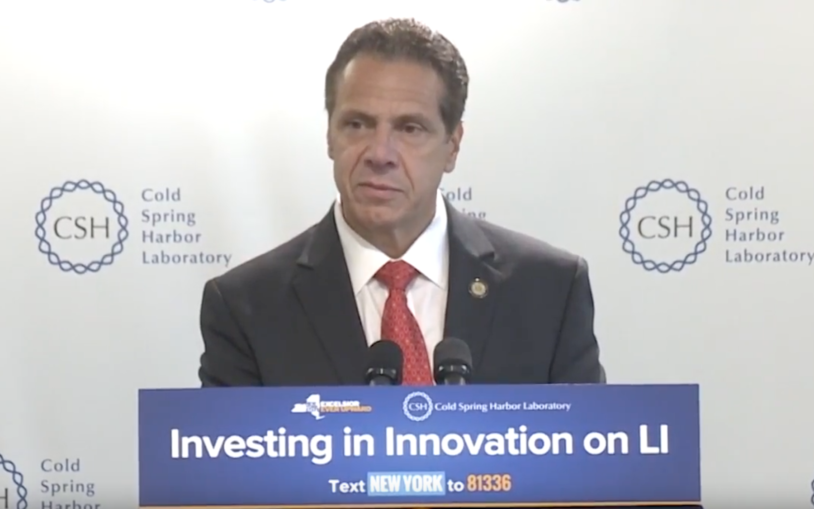 NY Governor Andrew Cuomo on investing in innovation at Cold Spring Harbor Laboratory