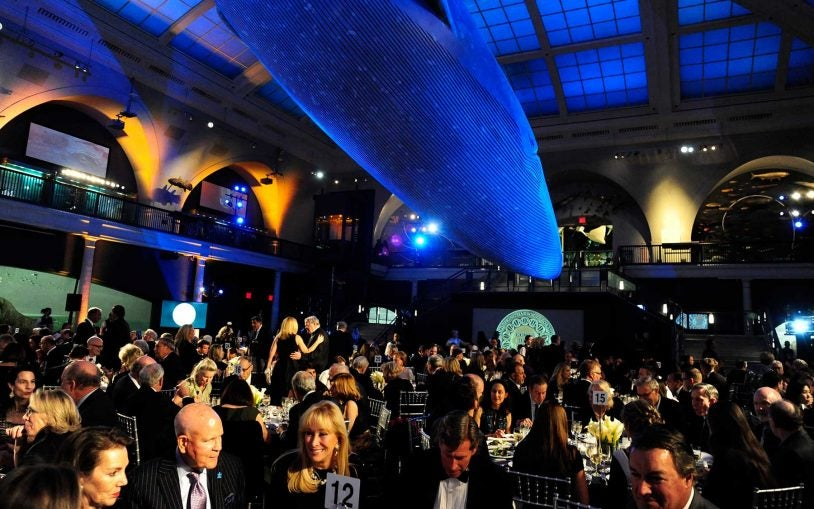 Guests at the Double Helix Medals Dinner in the American Natural History Museum.