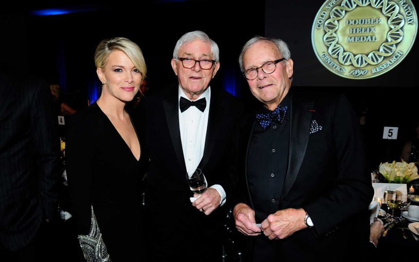 Left to right: Megyn Kelly, Phil Donahue, and Tom Brokaw.