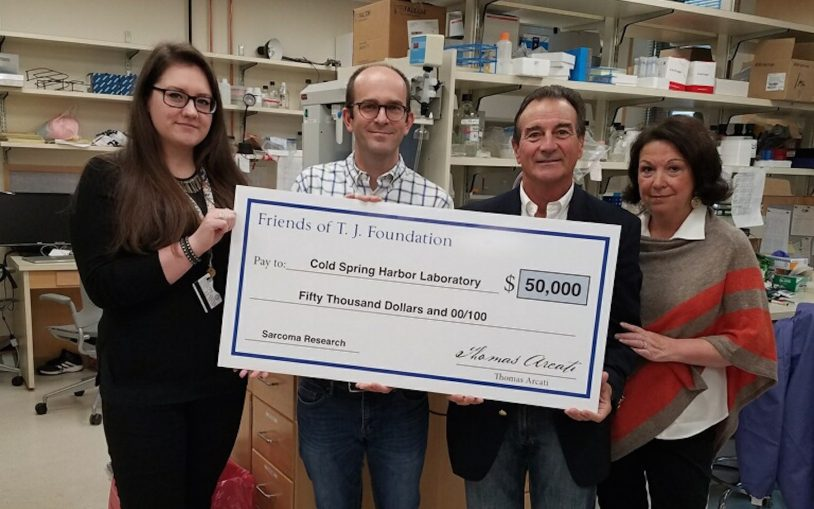 Friends of T.J. present $50,000 gift for ongoing rhabdomyosarcoma research