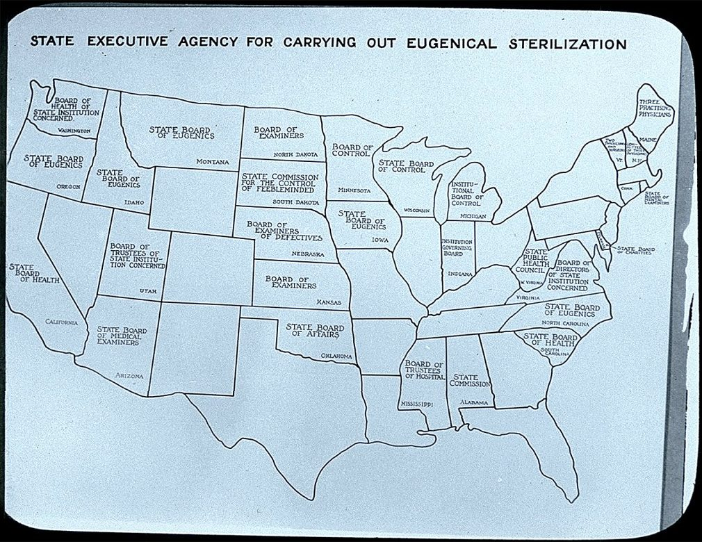 State executive agency for carrying out eugenical sterilization,  1935