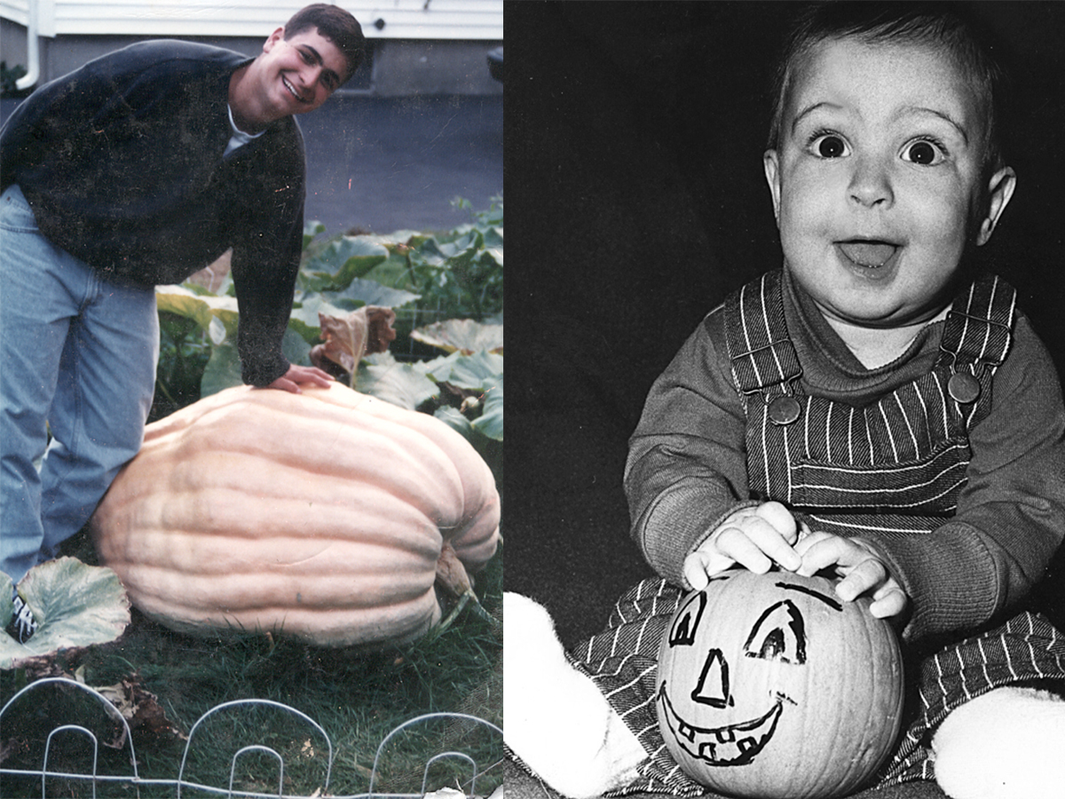 Lil Lippman and pumpkins
