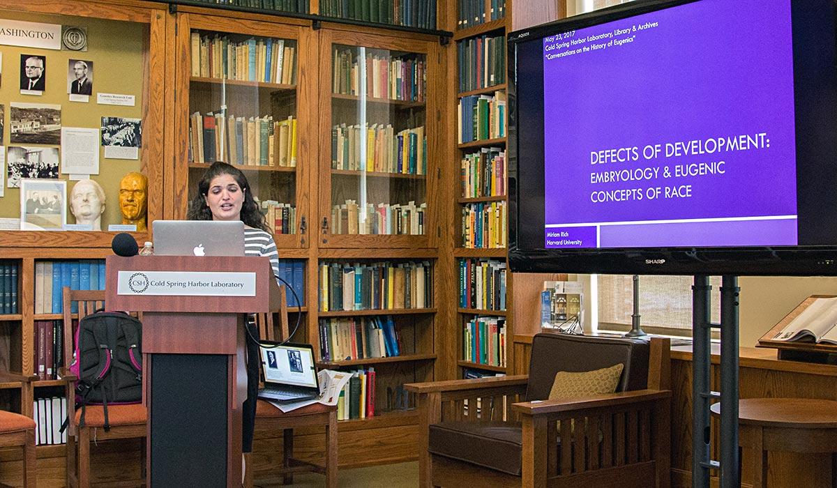 Miriam Rich presenting at Conversations