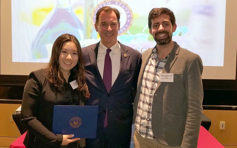 At CSHL, Congressman Suozzi celebrates scientific achievements of local HS students