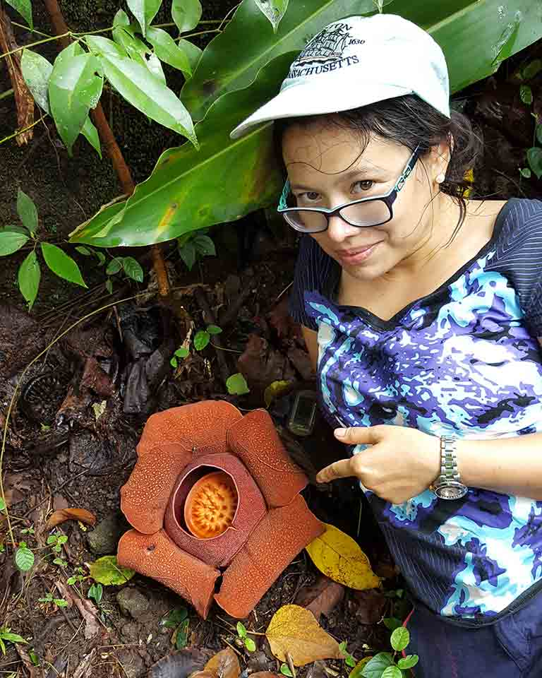 Jeanmaire Molina with Rafflesia