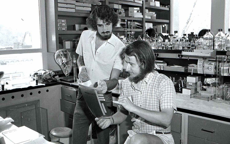 Bruce Stillman and Nigel Stowe 1979