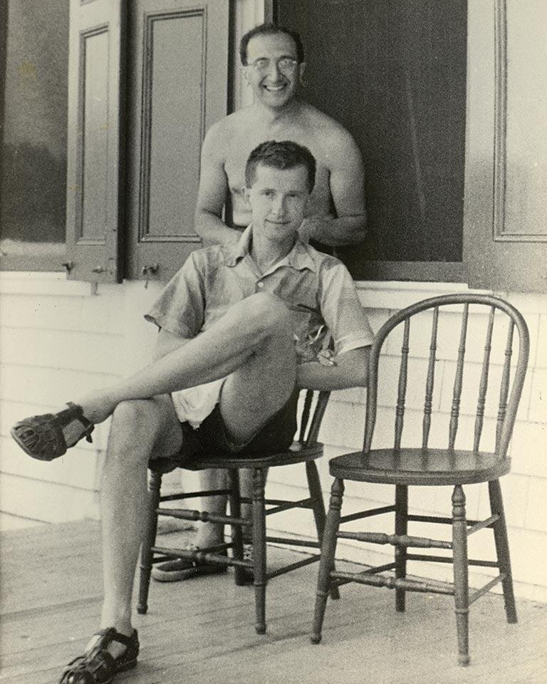 Luria and Delbruck Jones Porch 1953